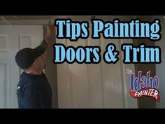 How To Spray Interior Trim & Doors. Painting Doors & Trim. - YouTube
