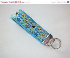 Christmas in July SALE  Key FOB / KeyChain / Wristlet   by Laa766, $6.00   teachers, coaches, nurses and students / preppy / fabric / cute / patterns / key chain / keychain / girly / badge / key leash             co-worker gifts / gifts under $10.