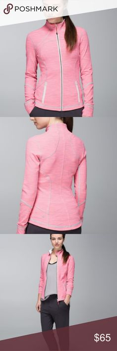 fc5151d6ea4f1 Lululemon Pink Forme Jacket Sz. 6 Great lightweight jacket for layering!  It s a pretty