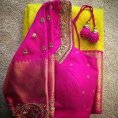 Gorgeous, elegant silk saree blouse