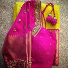 Gorgeous, elegant silk saree blouse