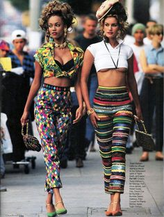 Tyra Banks and Susan Holmes for Elle US by Gilles Bensimon, May 1993