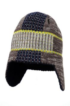 4240671e26c From  eatextiles  Cashmere grid earflap hat