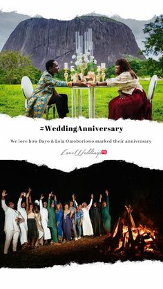 Personal photographer to President Muhammadu Buhari, Bayo Omoboriowo, celebrated his wife Lola, as they marked their 5th wedding anniversary. To celebrate, they had a getaway at Zuma Rock resort with family and friends. We totally love this idea of having a mini-vacay within Nigeria 5th Wedding Anniversary, Wedding News, Bridal Collection, Our Love, Real Weddings, Rock, Friends, Celebrities, Mini