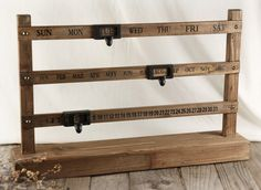 Sliding Wood Perpetual Calendar 22x14 with stand $34