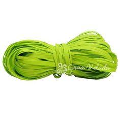 Cinta de Rafia Verde Pistacho, muy divertido este color con el que sin duda lograrás paquetes de regalo muy actuales. #diy  Encuéntralo en Gran Velada.
