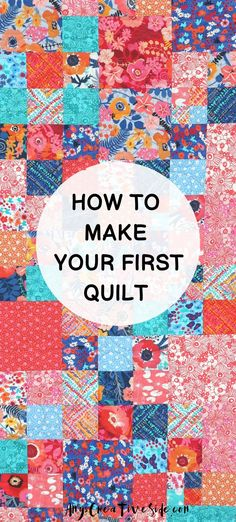 Learn to quilt with me! Complete with a shopping list for basic supplies to get you started. Learning to make a quilt is process! I have broken it down into manageable pieces, with all the tools needed. Make your first quilt today! Beginner Quilt Patterns, Quilting For Beginners, Quilting Patterns, Quilting Tutorials, Quilting Ideas, Small Quilts, Easy Quilts, Mini Quilts, Handmade Quilts For Sale