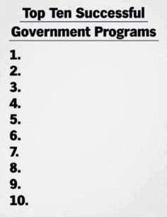 lol......Not so funny because the functioning of the top government agencies considered  successful makes a twin list