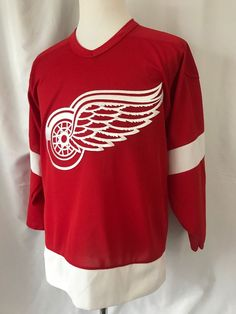 c0e74b0cb96 Details about Detroit Red Wings Hatcher Small S KOHO NHL Hockey Jersey Red  sewn logo