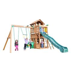 Found it at Wayfair - Madison Swing Set Best Swing Sets, Play Swing Set, Backyard Playground, Backyard For Kids, Backyard Ideas, Move On Up, Outdoor Fun, Play Houses, Creative