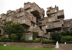 アビタ67団地 1967年にカナダで開催されたモントリオール万博に合わせて作られた集合住宅。建築家モシェ・サフディがデザイン。今も居住者がいる。Habitat 67 1967 to be made in accordance with the Montreal Expo , which was held in Canada collective housing . Architect Moshe Safdie design . Some are residents now .