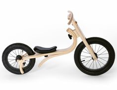 A complete innovation in children riding toys! The wooden Leg&Go through 8 modifications teaches walking, balancing and pedaling to children of 8 month