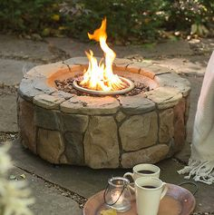 Outdoor-Propane-Gas-Fire-Pit-Backyard-Patio-Deck-Stone-Fireplace-Heater-Bowl