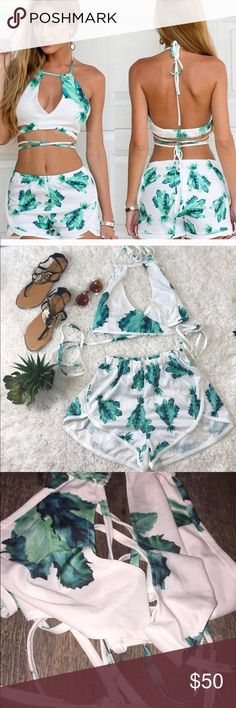 2 piece woman's set Brand new bought from a boutique don't fit me !size small very stretchy can fit mulitple sizes.       Money gram I can do cheaper ! Other