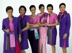 Thai Airways Flight Attendant/Stewardess Uniforms ~ Cabin Crew Photos