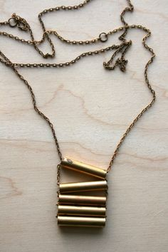 Copper Ladder Necklace  Laura Lombardi