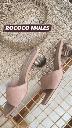 The perfect nude mule with a statement heel. Super comfy with its wide straps! #statementheel #mules #winonaaustralia Gold Texture, Texture Design, Rococo, Low Heels, Kitten Heels, Slip On, Comfy, Leather