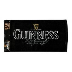 Mully's Touch of Ireland - Guinness Signature Bar Towel, $11.95 (http://www.mullystouchofireland.com/guinness-signature-bar-towel/)