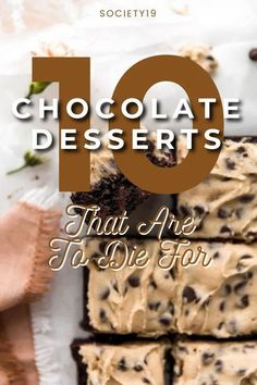 10 Chocolate Desserts That Are To Die For Chocolate Cobbler, Chocolate Banana Muffins, Decadent Chocolate, Chocolate Flavors, Chocolate Desserts, Melting Chocolate, Easy To Make Desserts, Great Desserts, Cookie Dough Ingredients