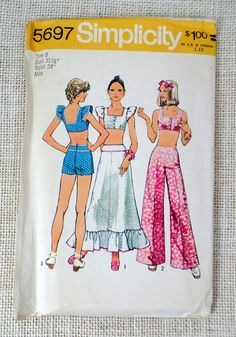 Vintage sewing pattern Simplicity 5697 by momandpopcultureshop