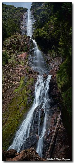 Montezuma Falls, Tasmania. A lovely 10km 3hr walk near Roseberry, Tasmania.