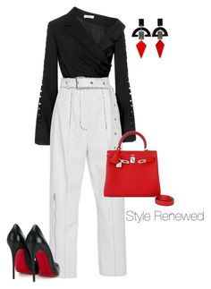 """Untitled #431"" by sherristylz on Polyvore featuring Adeam, Hermès, Christian Louboutin and Toolally"
