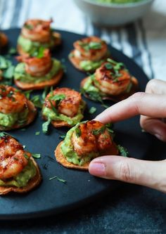 Cajun Shrimp Guacamole Bites, the perfect appetizer for your next game day party! Creamy, spicy, healthy, paleo, and delicious!   joyfulhealthyeats.com