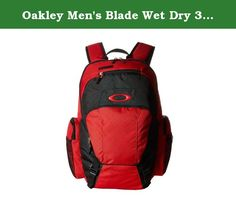 Oakley Men's Blade Wet Dry 30 Backpack, Red Line. When your action-packed adventures involve travel, the Blade Wet/Dry 40 transports your surf essentials with convenience and efficiency. Salt water-repellent and sand-resistant with a 600D nailhead polyester exterior and 200D polyester lining, this extra-large pack keeps it all organized and separated, from your laptop to your fins and assorted other smaller items, so wet gear or beach conditions don't dampen or damage apparel and delicate...