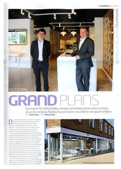 Drummonds discuss new flagship showroom, new collection and growth ambitions drummonds-uk.com Essential Kitchen & Bathroom Business July 2014