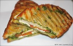Carrie's Experimental Kitchen: Grilled Chicken & Pesto Panini
