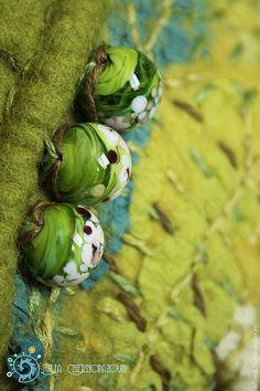 """Купить """"У границы Вековечного леса"""", сумка-клатч - толкиен, салатовый, валяная сумка, лист"""