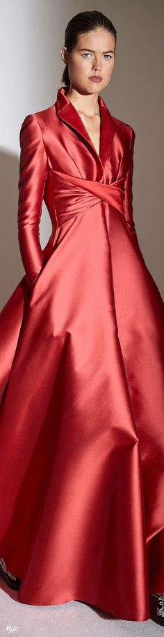 Spring 2021 RTW Alexis Mabille Women's Runway Fashion, Fashion 2020, October Fashion, Alexis Mabille, Black Tie Affair, Colorful Fashion, Dress Up, High Neck Dress, Lady In Red