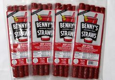 Benny's Beef Straws — Not a drink but would love in a bloody mary! Bloody Mary Bar, Cocktails, Drinks, Straws, Beef, Make It Yourself, Food, Craft Cocktails, Drinking