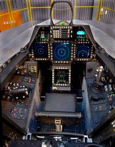 Lockheed Martin/Boeing F22 Raptor cockpit  Notice how much less visually cluttered this view is that that of its predecessors.