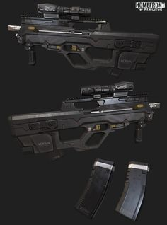 ArtStation - Homefront: The Revolution KPA Rifle, Pedro Amorim Sci Fi Weapons, Concept Weapons, Weapons Guns, Fantasy Weapons, Guns And Ammo, Future Weapons, Military Guns, Futuristic Art, Firearms