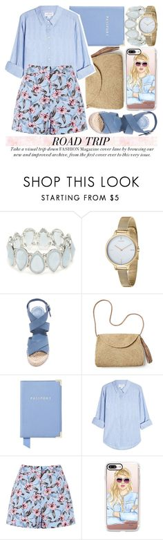 """REV IT UP: ROAD TRIP STYLE #3"" by noraaaaaaaaa ❤ liked on Polyvore featuring Kim Rogers, Fjord, Joie, Mar y Sol, Aspinal of London, Velvet, Casetify and roadtrip"