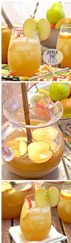 Apple Pie Punch - 14 Festive Thanksgiving Cocktails   GleamItUp