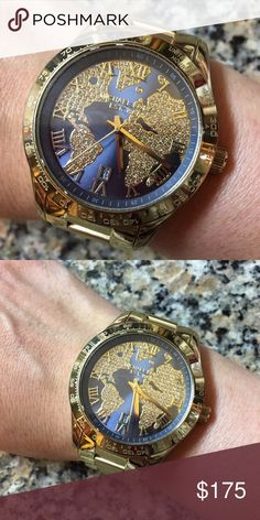 Mk silver watch round face comes with link has a few scratches on mk silver watch round face comes with link has a few scratches on the back kors michael kors accessories watches my posh closet pinterest the gumiabroncs Choice Image