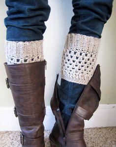 Boot cuffs, leg warmers, 100% wool. $22.50, via Etsy.