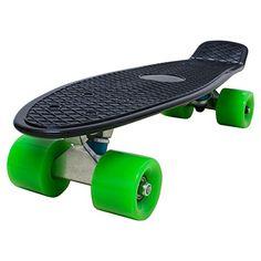 Love Fly Plastic Cruiser Skateboard 22 Inch Complete Standard Skateboard Banana Board Fish Board Skateboarding Skateboards Black Deck
