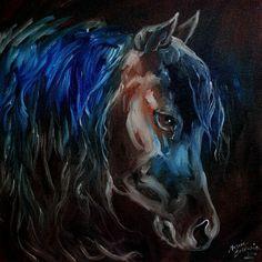"""Dark Night Equine"" par Marcia Baldwin"