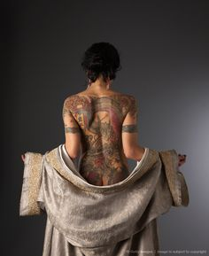 Dragon Tattoo Lady. What a very yakuza like tattoo. I like the pose too.