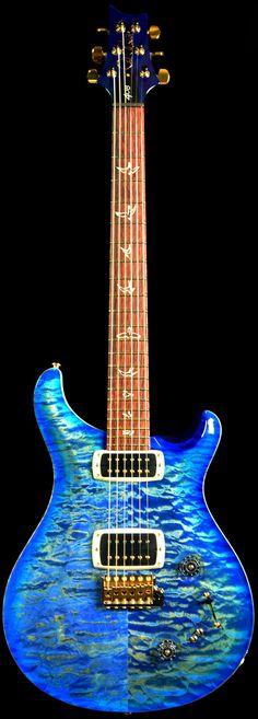 Wild West Guitars : PRS 408 Maple Top Faded Blue Burst 10 Top