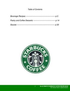 Recipes for every Starbucks drink!