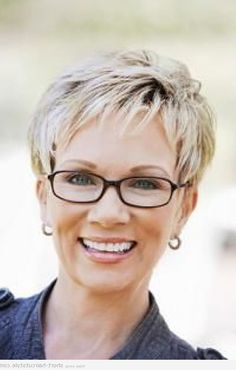 short hairstyles for women with glasses over 50 - Hairstyles for ...