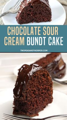 Chocolate Sour Cream Bundt Cake This easy Chocolate Bundt Cake is the BEST chocolate cake recipe! This bundt cake always gets rave Amazing Chocolate Cake Recipe, Chocolate Pound Cake, Chocolate Cake Recipe Easy, Chocolate Desserts, Chocolate Cream, Chocolate Cake Frosting, Homemade Cake Recipes, Pound Cake Recipes, Bon Dessert