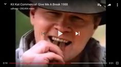 """The original 1988 """"Give me a break!"""" Kit-Kat bar TV ad shows an actor eating one """"wrong."""" http://ift.tt/2fiAqXs"""