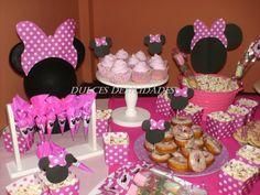 minnie mouse snack ideas | Dulces debilidades,Catering de mesas dulces Ambientadas