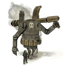 """A quirky dieselpunk-leaning """"Robo Doodle 2"""" by Mark Bello."""