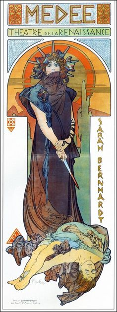 SARA BERNHARD POSTER BY MUCHA...........LB***Research for possible future project.